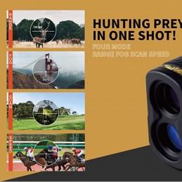 Múltiples usos Telemetro Laser medidor Velocidad, Distancia y Altura Rangefinder Aofar AF1000 alta precisión