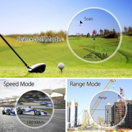 Varios usos distintos Telemetro Laser medidor Velocidad, Distancia y Altura Rangefinder Aofar AF1000 alta precisión