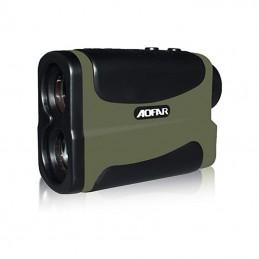 Vista de cerca Telemetro Laser medidor Velocidad, Distancia y Altura Rangefinder Aofar AF1000 alta precisión