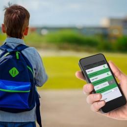 En la mochila de un hijo o niño Tracker Bluetooth Llavero Rastreador Key Finder Traxxit Xtreme