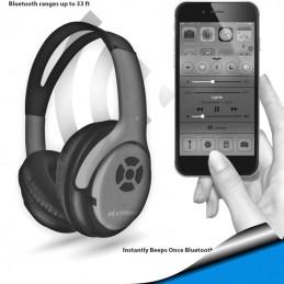 Audifonos con Microfono Bluetooth Inalambricos bateria recargable azul Extreme