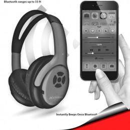 Audifonos con Microfono Bluetooth Inalambricos bateria recargable rojo Extreme