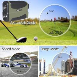 Telemetro Laser medidor Velocidad, Distancia y Altura Rangefinder Aofar AF1000 alta precisión ejemplos