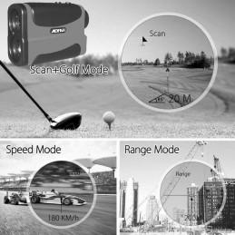 Telemetro Laser medidor Velocidad, Distancia y Altura Rangefinder Aofar AF1000 alta precisión