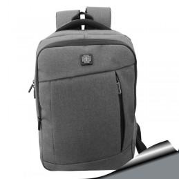 Mochila Notebook 15,6 Gris Elegante bolsillos facil acceso organizador interior 282B