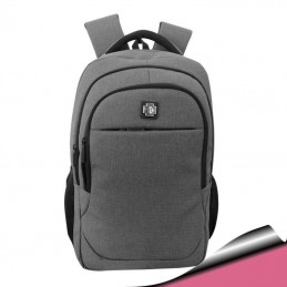 Mochila Rosada para Notebook 15,6 3 bolsillos con cierre y bolsillo para botella lateral 283E