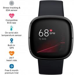 Fitbit SmartWatch sense 3 carbon sistema de altavoz GPS