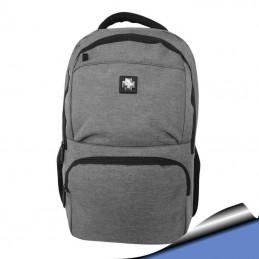 Mochila Notebook 15,6 Azul bolsillo para botella, 3 bolsillos en el frente 285C