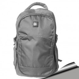 Mochila Notebook 15,6 Gris doble compartimento, bolsillo para botella 316C
