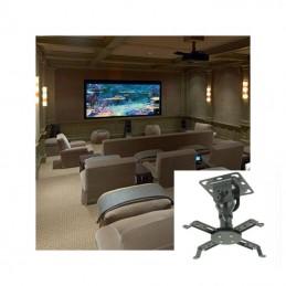 Vista Instalado Soporte de Proyector Data Show Robusto 20kg Universal al techo o cielo Ecotek P102