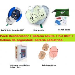 Desfibriladores para Colegios Desfibrilador Baterias adultos y niños Kit RCP Cabina de seguridad