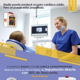 PACK HeartSine 500P Desfibriladores para Clinicas Dentales Desfibrilador Baterias adulto Kit RCP Cabina de seguridad