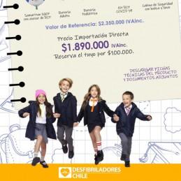 PACK HeartSine 500P Desfibriladores para Colegios Desfibrilador Baterias adultos y niños Kit RCP Cabina de seguridad