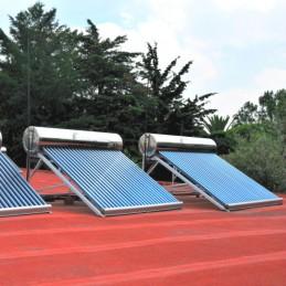 Calentador SOLAR 300L, 30 tubos, full Acero Inoxidable Sobre el techo